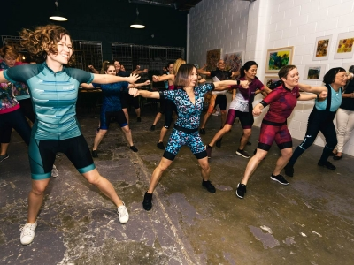 2b Flashmob for launch event for Birds on Bikes clothing brand 2019