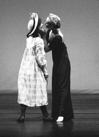 Kitty Smith with Vanessa Mafe in Pamela Buckman's La Mer for Qld Ballet