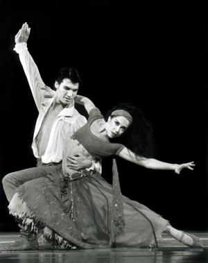 Rosetta Cook: with Martin Michel, Scheherazade ACT 2, 1990, QLD Ballet