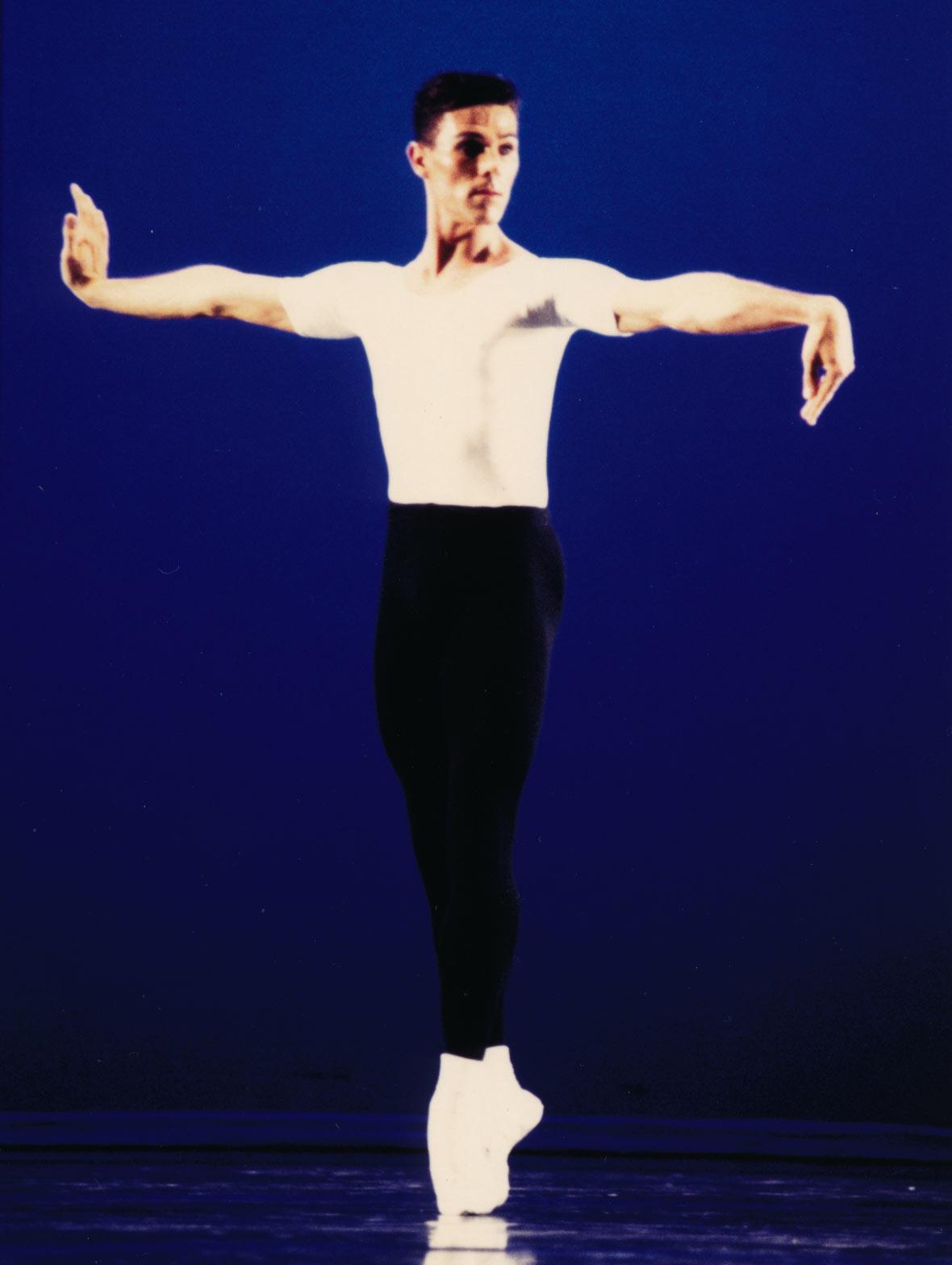 Graham Fletcher Role Phlegmatic Four Temperaments, George Balanchine, 1995 Royal NZ Ballet