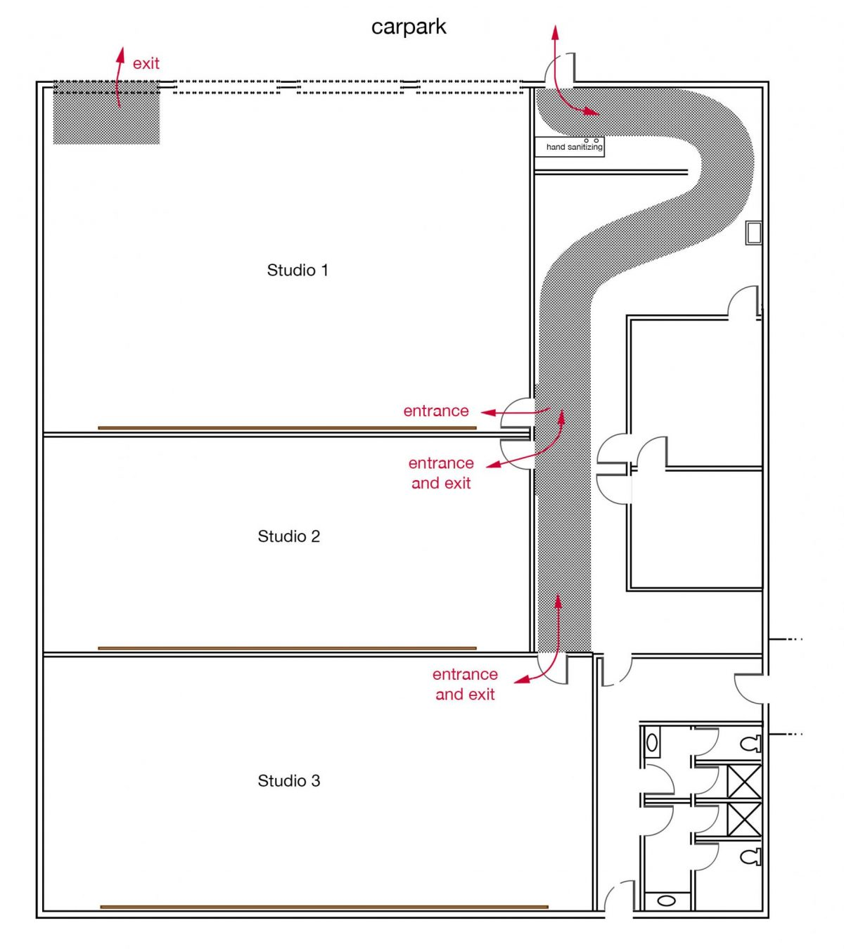 Studio Exits Diagram